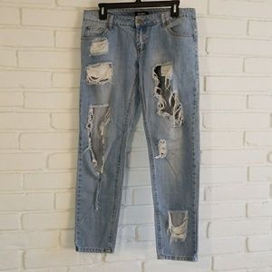 Misguided Ripped Boyfriend Jeans